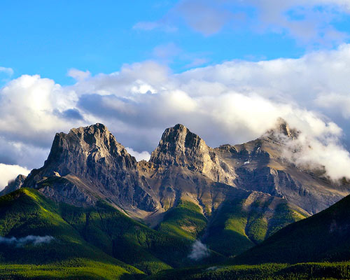 Three Sisters Mountain Range, Canmore Alberta